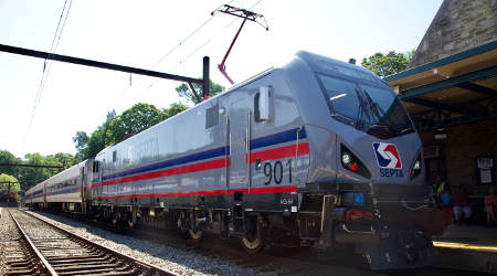 SEPTA's first new Siemens locomotive hits the rails