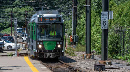 MBTA unveils new Green Line rail car