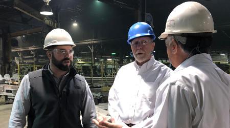 U.S. Rep. Loebsack visits Sivyer Steel for post-bankruptcy update