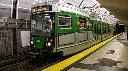 MBTA launches first new car on Green Line in a decade
