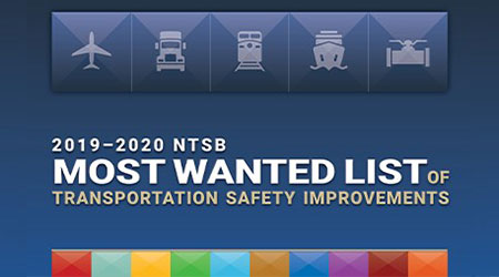 NTSB updates list of most wanted safety improvements
