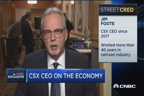 Watch CNBC's full interview with CSX's CEO on railroads, transports